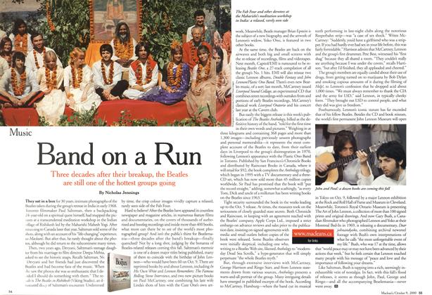 Article Preview: Band on a Run, October 2000 | Maclean's