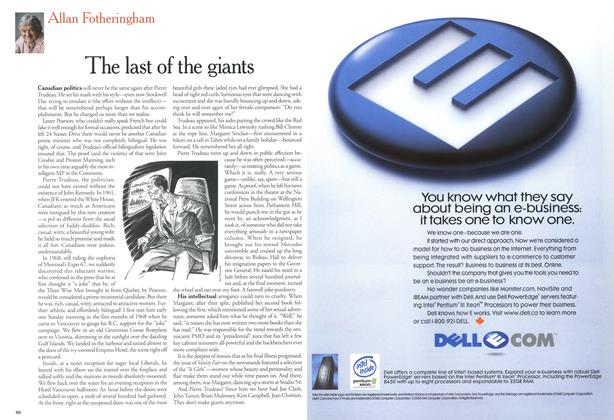 Article Preview: The last of the giants, October 2000 | Maclean's