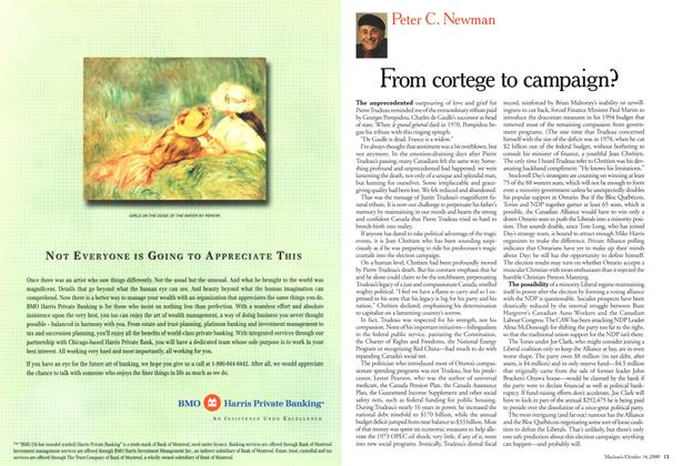 Article Preview: From cortege to campaign?, October 2000 | Maclean's