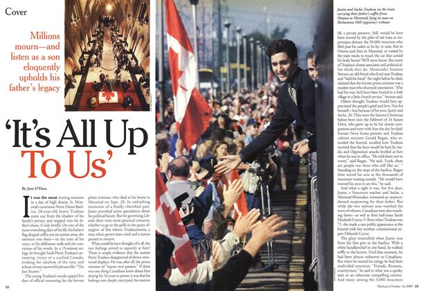 Article Preview: 'It's All Up To Us', October 2000 | Maclean's