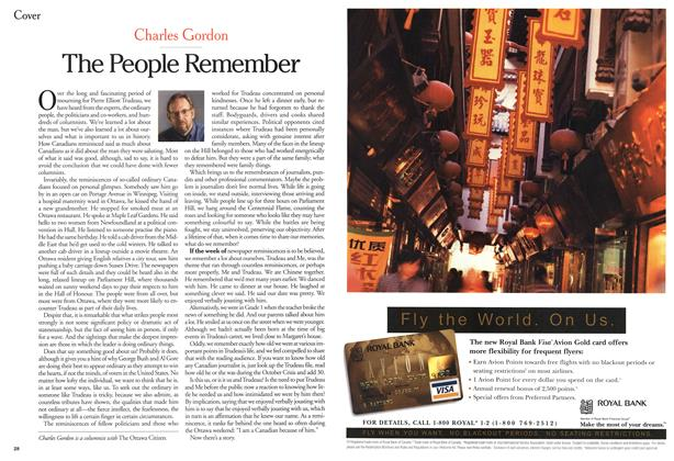 Article Preview: The People Remember, October 2000 | Maclean's