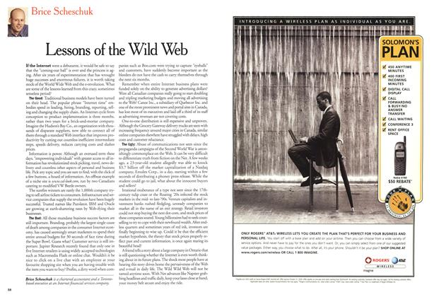 Article Preview: Lessons of the Wild Web, October 2000 | Maclean's