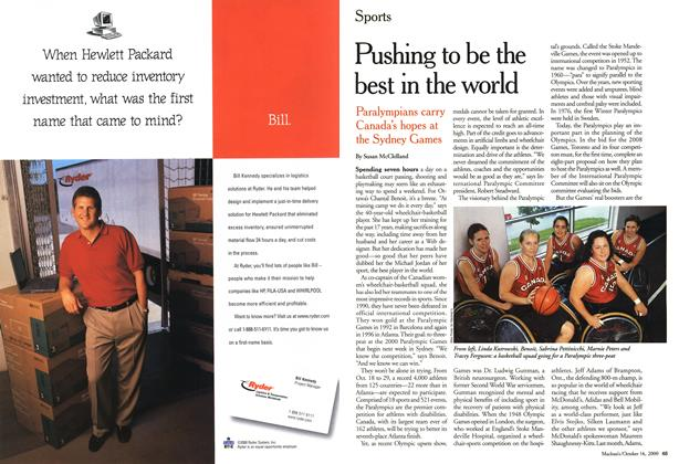 Article Preview: Pushing to be the best in the world, October 2000 | Maclean's