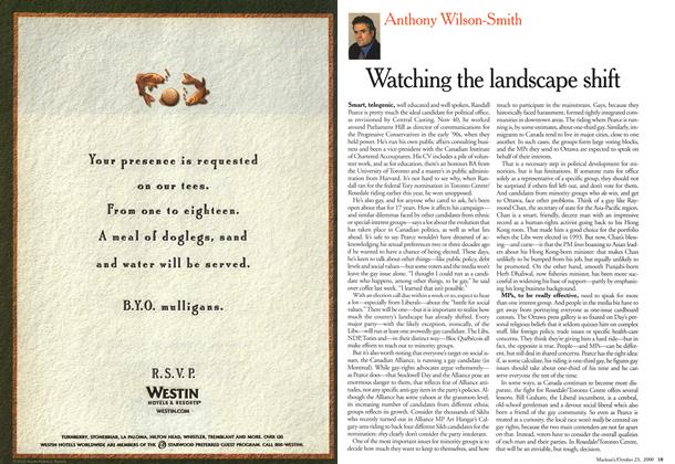 Article Preview: Witching the landscape shift, October 2000 | Maclean's