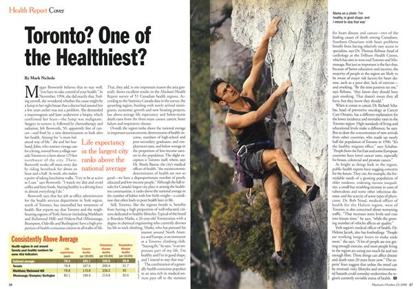 Article Preview: Toronto? One of the Healthiest?, October 2000 | Maclean's