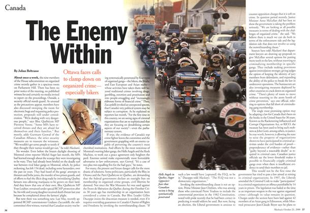 Article Preview: The Enemy Within, October 2000 | Maclean's