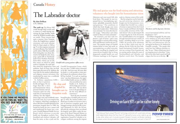 Article Preview: The Labrador doctor, October 2000 | Maclean's