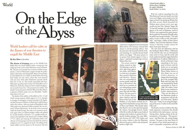 Article Preview: On the Edge of the Abyss, October 2000 | Maclean's