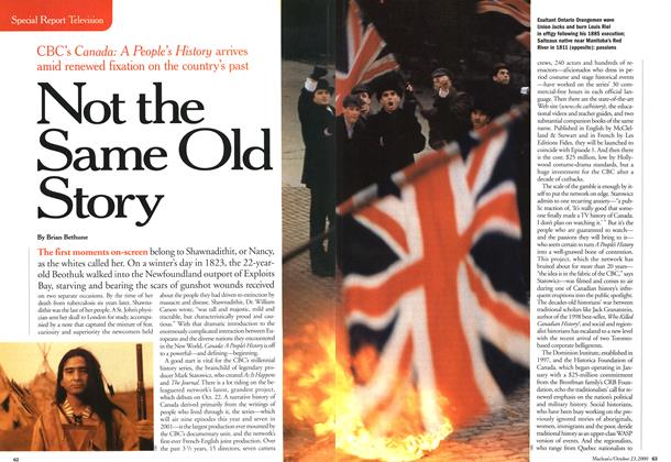 Article Preview: Not the Same Old Story, October 2000 | Maclean's