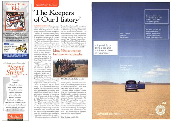 Article Preview: 'The Keepers of Our History', October 2000 | Maclean's