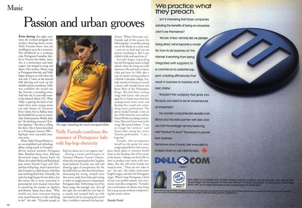 Article Preview: Passion and urban grooves, October 2000 | Maclean's
