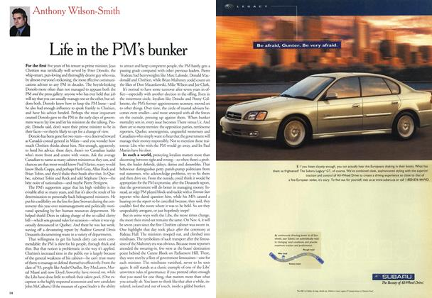 Article Preview: Life in the PM's bunker, October 2000 | Maclean's