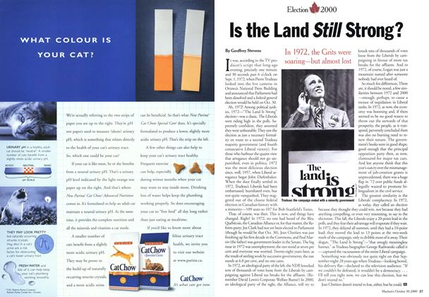 Article Preview: Is the Land Still Strong?, October 2000 | Maclean's