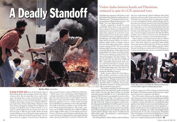 Article Preview: A Deadly Standoff, October 2000 | Maclean's