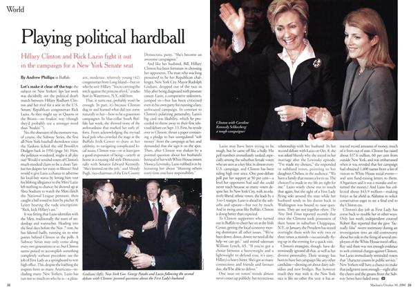 Article Preview: Playing political hardball, October 2000 | Maclean's