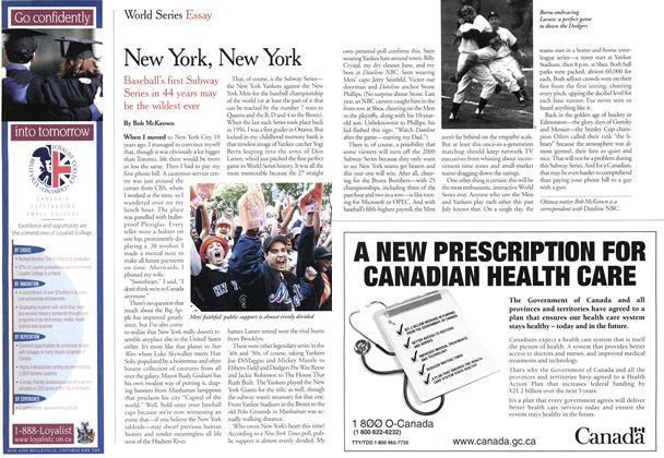 Article Preview: New York, New York, October 2000 | Maclean's
