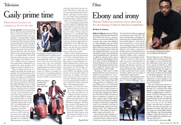 Article Preview: Ebony and irony, October 2000 | Maclean's