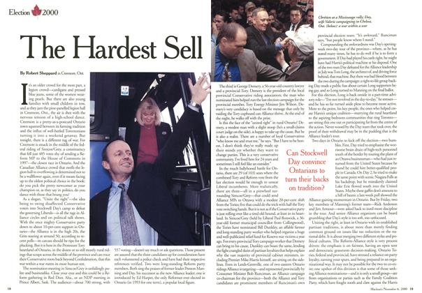 Article Preview: The Hardest Sell, November 2000 | Maclean's