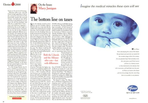 Article Preview: The bottom line on taxes, November 2000 | Maclean's