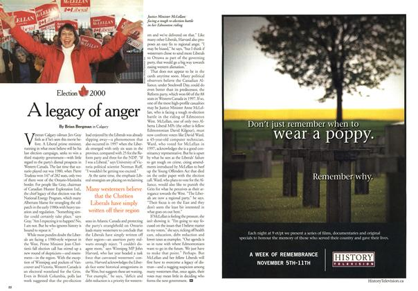 Article Preview: A legacy of anger, November 2000 | Maclean's
