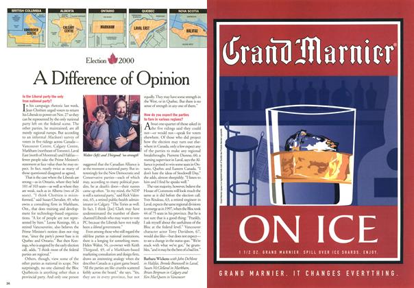 Article Preview: A Difference of Opinion, November 2000 | Maclean's