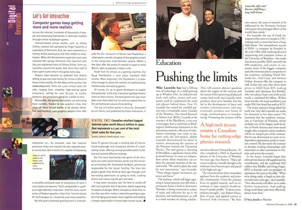 Article Preview: Pushing the limits, November 2000 | Maclean's