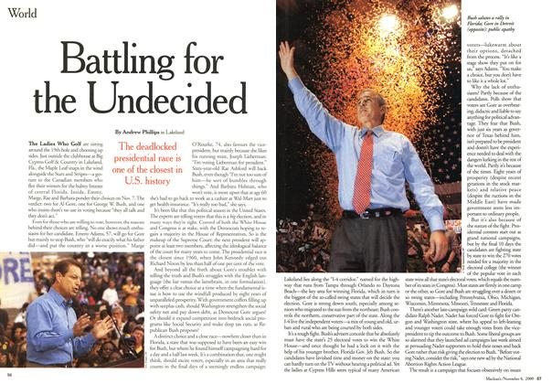 Article Preview: Battling for the Undecided, November 2000 | Maclean's