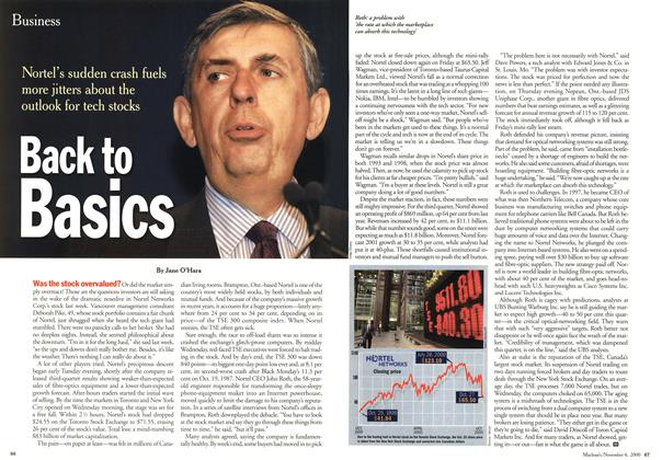 Article Preview: Back to Basics, November 2000 | Maclean's