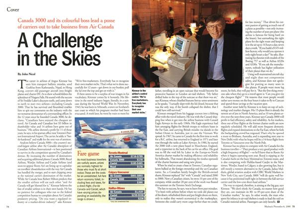 Article Preview: A Challenge in the Skies, November 2000 | Maclean's