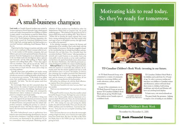 Article Preview: A small-business champion, November 2000 | Maclean's