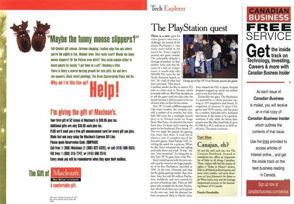 Article Preview: Tech Explorer, November 2000 | Maclean's