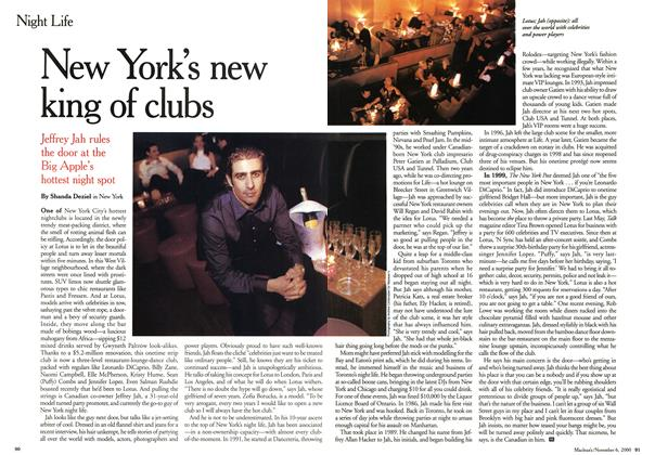 Article Preview: New fork's new king of clubs, November 2000 | Maclean's