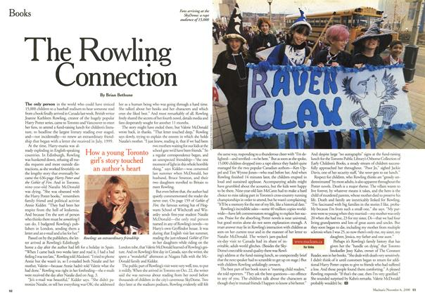 Article Preview: The Rowling Connection, November 2000 | Maclean's
