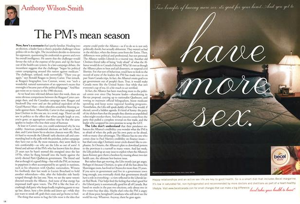 Article Preview: The PM's mean season, November 2000   Maclean's
