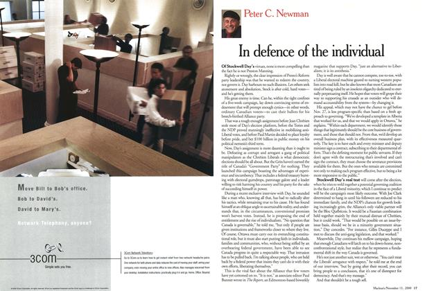 Article Preview: In defence of the individual, November 2000 | Maclean's