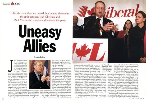 Article Preview: Uneasy Allies, November 2000 | Maclean's