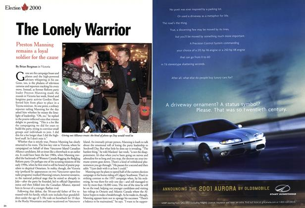Article Preview: The Lonely Warrior, November 2000 | Maclean's