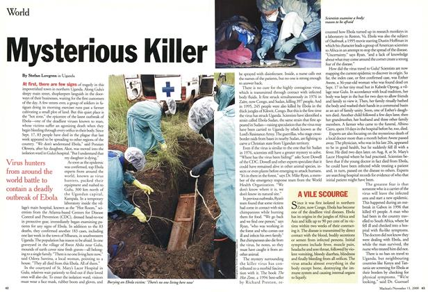 Article Preview: Mysterious Killer, November 2000 | Maclean's