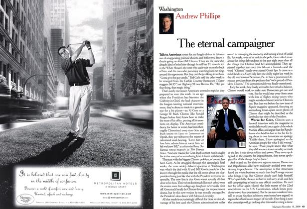 Article Preview: The eternal campaigner, November 2000 | Maclean's
