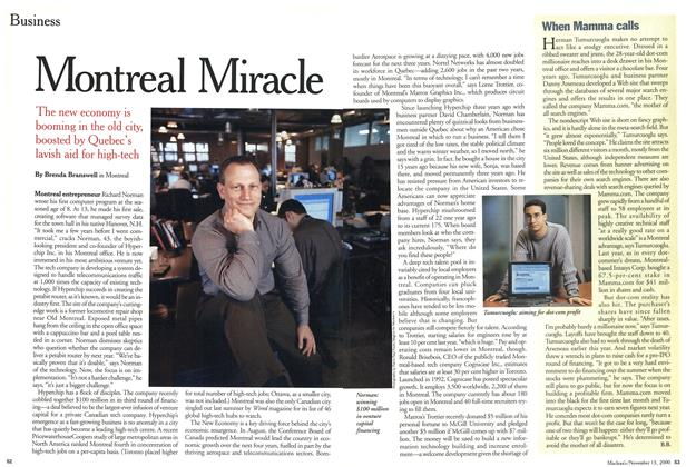 Article Preview: Montreal Miracle, November 2000 | Maclean's