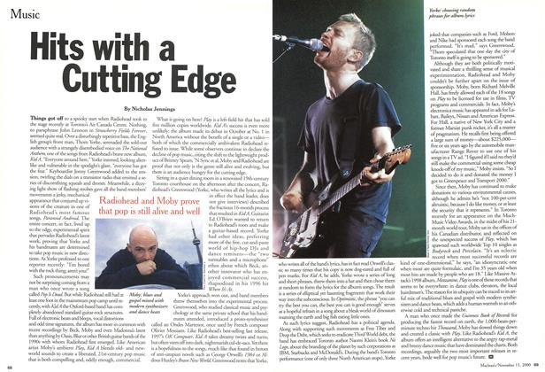 Article Preview: Hits with a Cutting Edge, November 2000 | Maclean's