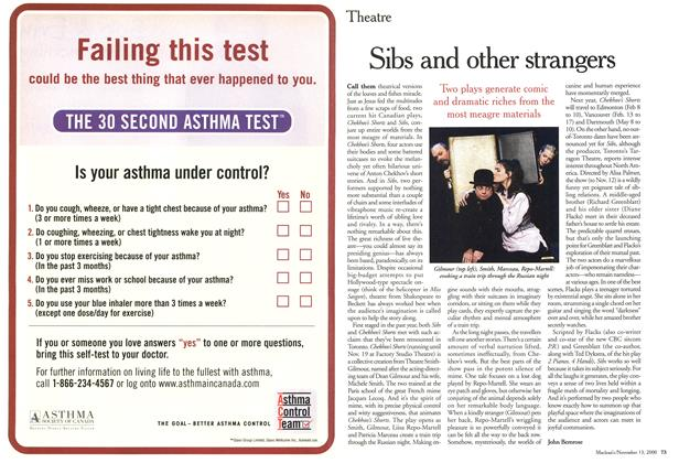 Article Preview: Sibs and other strangers, November 2000 | Maclean's