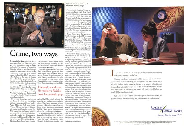 Article Preview: Crime, two ways, November 2000 | Maclean's