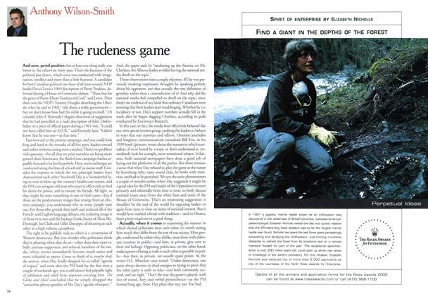 Article Preview: The rudeness game, November 2000 | Maclean's