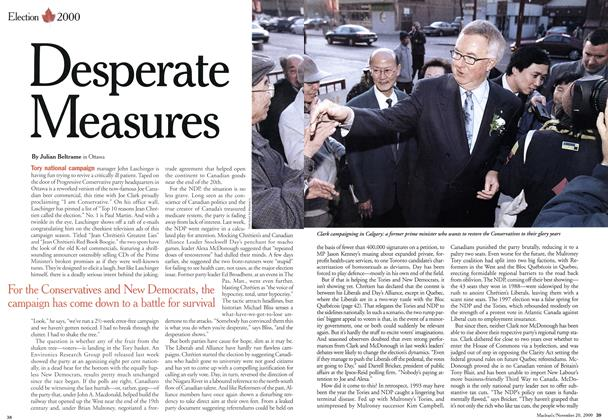 Article Preview: Desperate Measures, November 2000 | Maclean's