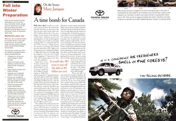 Article Preview: A time bomb for Canada, November 2000 | Maclean's