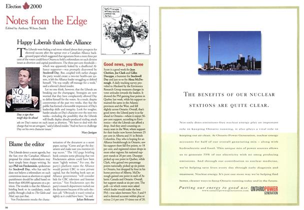 Article Preview: Notes from the Edge, November 2000 | Maclean's