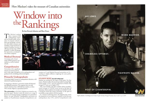 Article Preview: Window into the Rankings, November 2000 | Maclean's