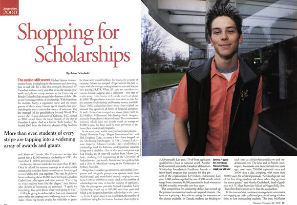 Article Preview: Shopping for Scholarships, November 2000 | Maclean's