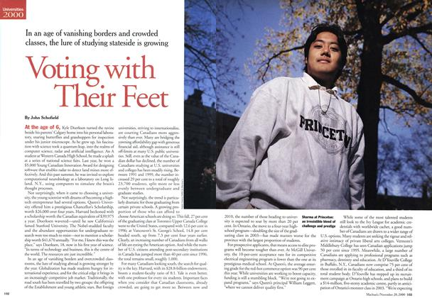 Article Preview: Voting with Their Feet, November 2000 | Maclean's